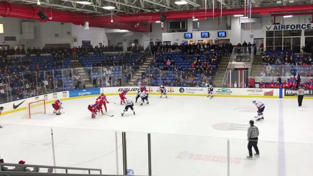 After Russia stalwart Andrei Svechnikov sparked his team to an early 3-0 lead Friday at USA Hockey Arena in Plymouth, Team USA launched a successful comeback, bouncing back to take a key matchup in the 2018 Under-18 Five Nations Tournament.