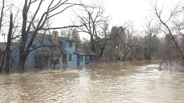Water continues to rise in Meridian Township.