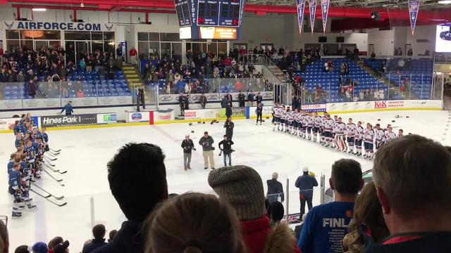 On Feb. 17, the U.S. Under-18 NTDP team defeated Finland 4-0 to win the 2018 Five Nations Tournament. Goalie Drew DeRidder of Fenton earned the shutout while area players Jonathan Gruden (Rochester) and Bode Wilde (Birmingham) also sparked the win.