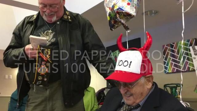 They threw him a big party. Relatives travelled from Chicago to South Lyon to celebrate. The guys from the local VFW post honored him.