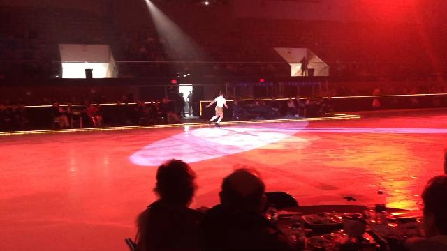 Former member of the Port Huron Figure Skating club and three-time national champion performs at club's annual show.