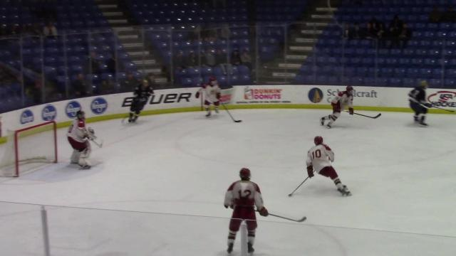 The Yellowjackets score late in the third period to defeat Hancock and move on to the Div. 3 final 2 p.m. Saturday against Livonia Churchill at USA Hockey Arena in Plymouth.