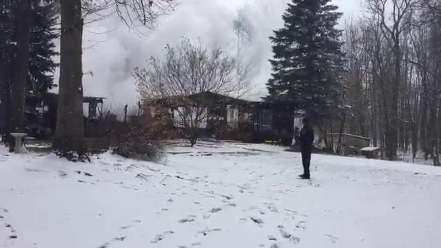 Firefighters respond to a house fire in Cohoctah Township.