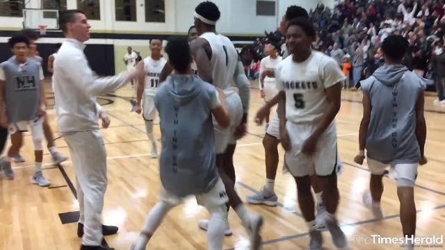 The New Haven High School Rockets defeated Bridgeport High School 78-72 in the MHSAA Class B basketball quarterfinals at Corunna High School March 20.