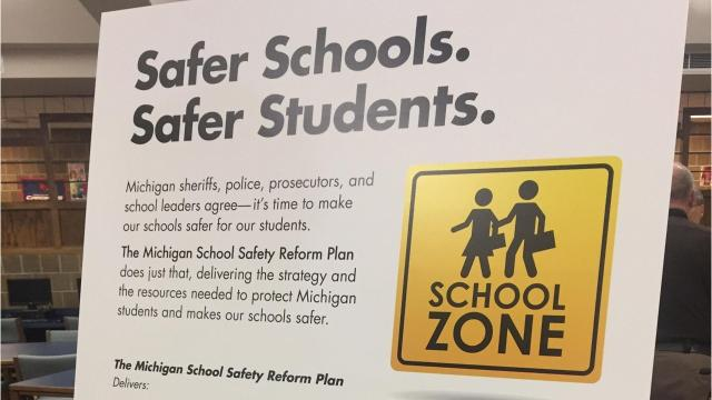 More law enforcement and mental health personnel in schools as well as shoring up building security were among the proposals offered by a coalition aiming to prevent violence in Michigan schools.