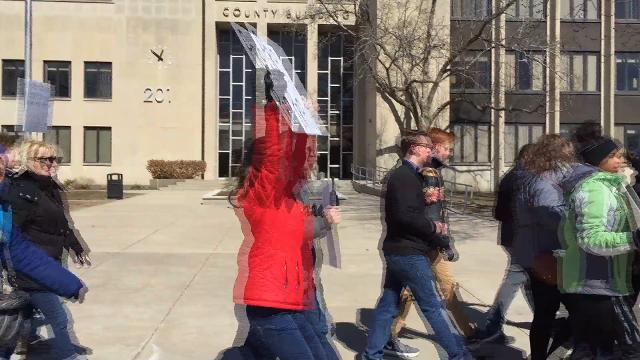 The March For Our Lives rally in Port Huron brought out more than 200 community members to call for an end to gun violence as they marched through downtown.