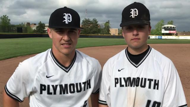 Plymouth's Evan Good, Robbie Begley talk big defensive play