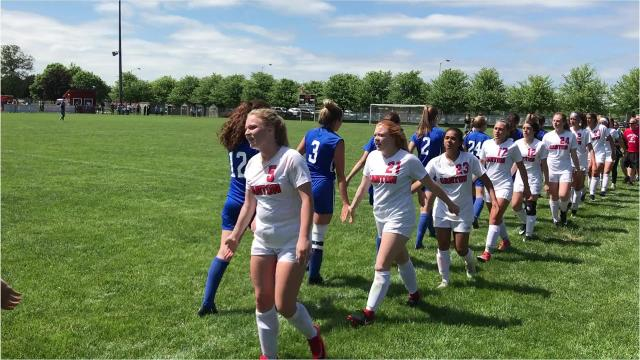 It took 100 minutes to decide Saturday afternoon's Division 1 girls soccer district final between Canton and Salem. The Chiefs prevailed, 3-2.