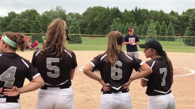 Plymouth wins D1 softball district championship, 16-1 in four innings, over Westland John Glenn.