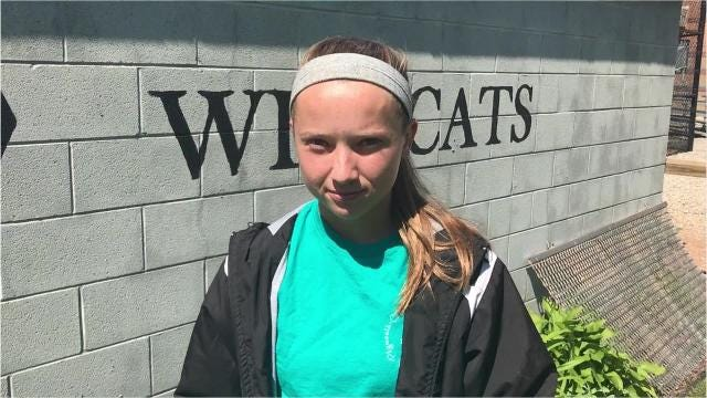 Jenny Bressler, Plymouth Wildcats softball pitcher, talks about winning the Gatorade Player of the Year Award for the sport.