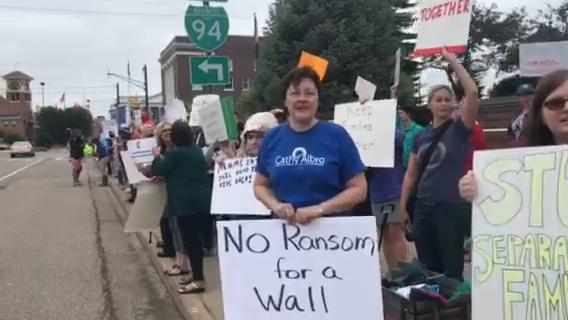 Immigration protest in Battle Creek