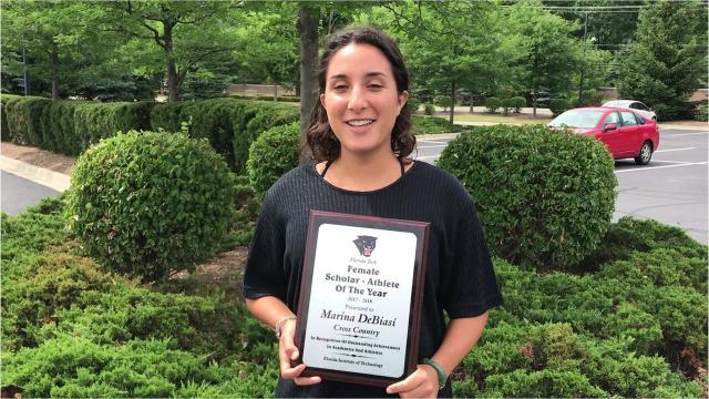 Marina DeBiasi overcame some personal setbacks en route to a lofty college award.