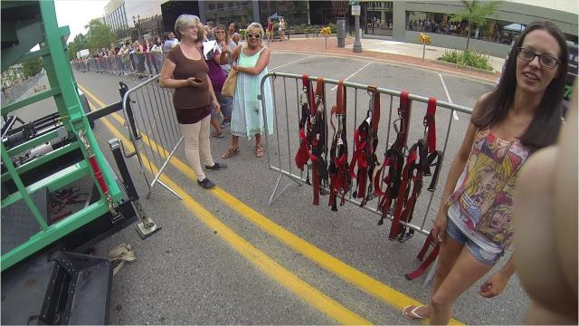 Lansing 5:01 set up a zipline downtown as part of its Rooftop Hop event on July 12.