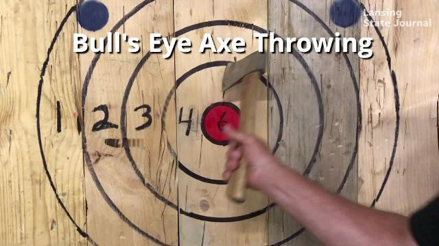 Bull's Eye Axe Throwing on Mt. Hope Avenue is just the second ax-throwing business in Michigan.
