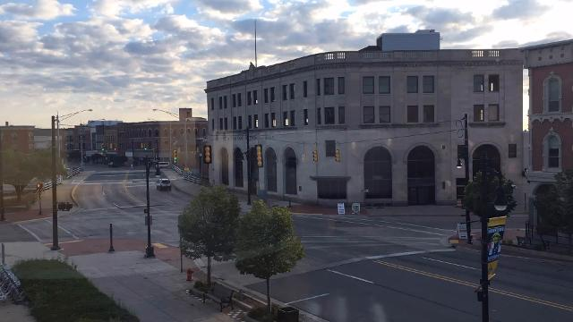 A time lapse video shows the clouds rolling in from the south in downtown Port Huron