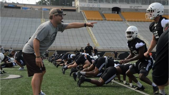Watch: Western Michigan first fall practice of 2018