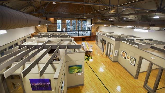 Take a look at the recently finished Owosso Armory project.