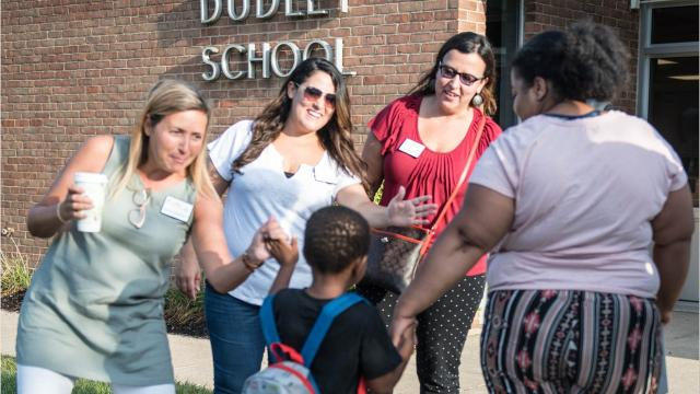 Battle Creek Public Schools dispatched Bearcat Ambassadors on Tuesday to welcome students back to school.