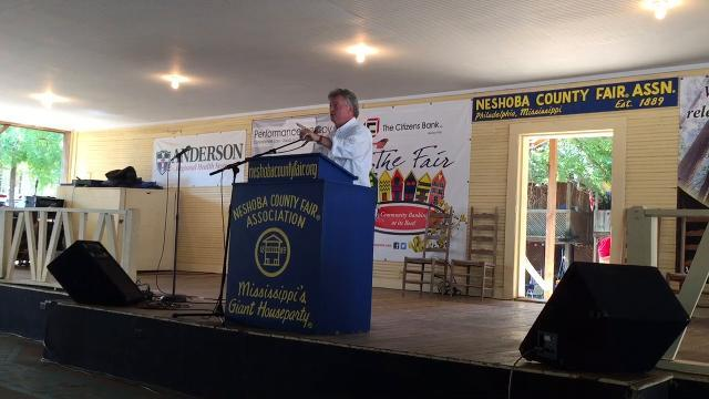 AG Jim Hood speaks at Neshoba County Fair