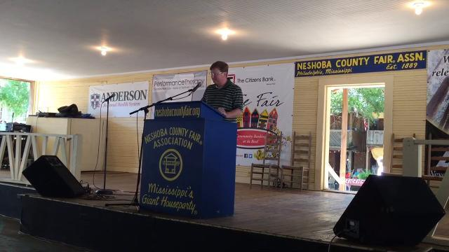 Tate Reeves speaks at Neshoba County Fair