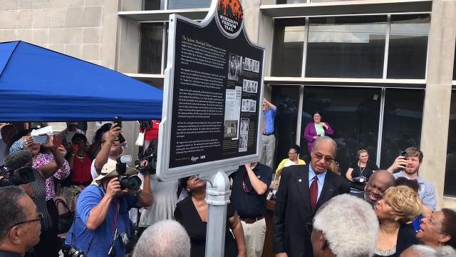 """Nine black students from Tougaloo College conducted a """"read-in"""" at the all-white downtown Jackson library on May 27, 1961. They were jailed, and 56 years later they were honored with a Mississippi Freedom Trail marker."""