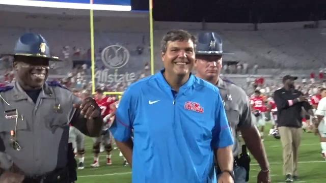 In his first outing as head coach, Matt Luke led the Ole Miss Rebels to a 47-27 win over South Alabama.