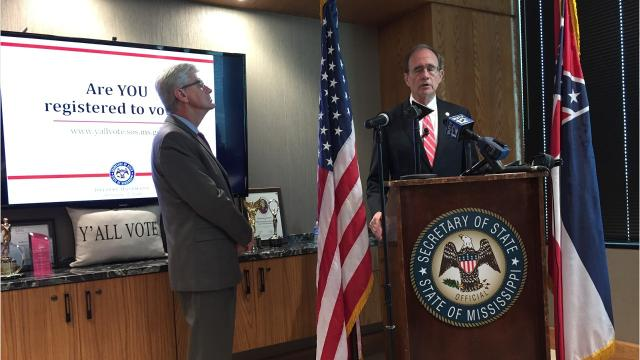Secretary of State Delbert Hosemann announced people can now change their voter registration address online when they move. For first-time registration, people must apply in person or by mail with county clerk's offices.