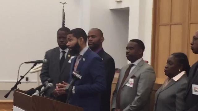 Jackson Mayor Chokwe Lumumba rallied against a looming takeover with community members Tuesday.