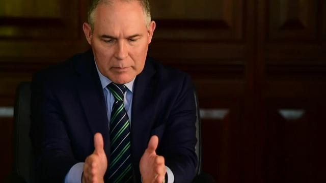 The head of the U.S. Environmental Protection Agency met with The Clarion-Ledger editorial board Oct. 12, 2017, during his visit to Mississippi as part of a national tour to meet with governors and local stakeholders to discuss issues and concerns with regulations.