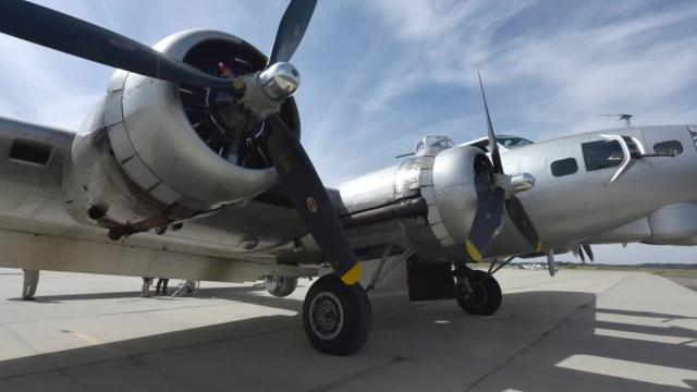 The Aluminum Overcast is a WWII-era B-17 Bomber that visited the John Bell Williams Airport for a few days.