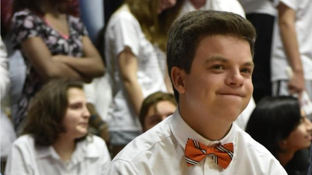 Graham Quarles brings a smile to the faces of everyone at Madison Central High School. Born with Williams Syndrome, the 15-year-old has never let anything hold him back, but even he was shocked to learn how much his classmates respect him for that.