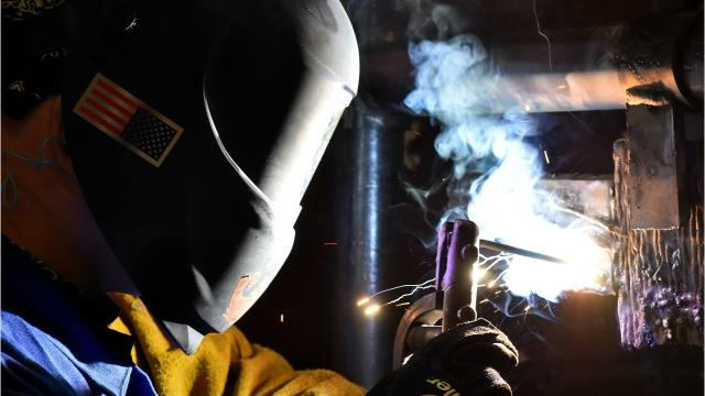 Instructor Carl Hudson works with students in his welding and cutting technologies class at Hinds Community College. The Hinds County supervisors passed a tax hike last year to pay for workforce development at HCC.