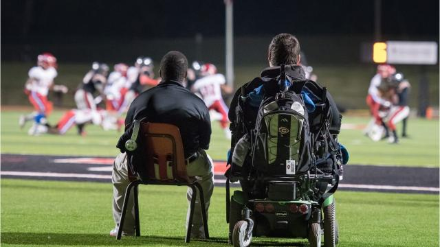 Clinton High Arrows football team embraced a new student at the school, welcoming him as a member of the team. It didn't matter that he doesn't play football.