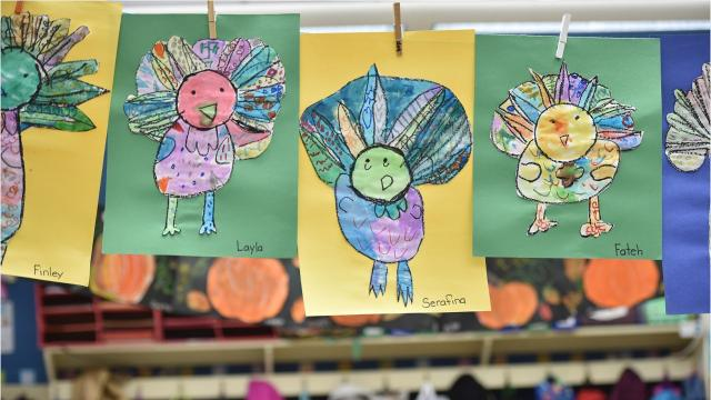 Kindergarteners and Thanksgiving