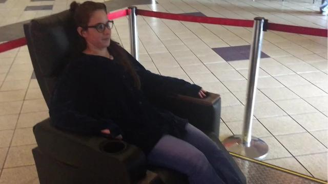 We tried the theater seats that shake, rattle & roll with the action