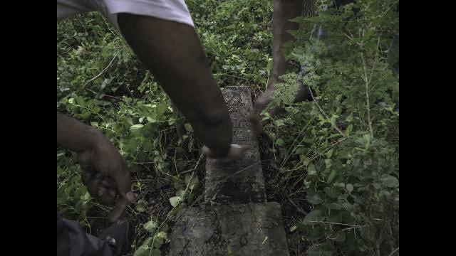 Historic, overgrown cemetery gets some TLC