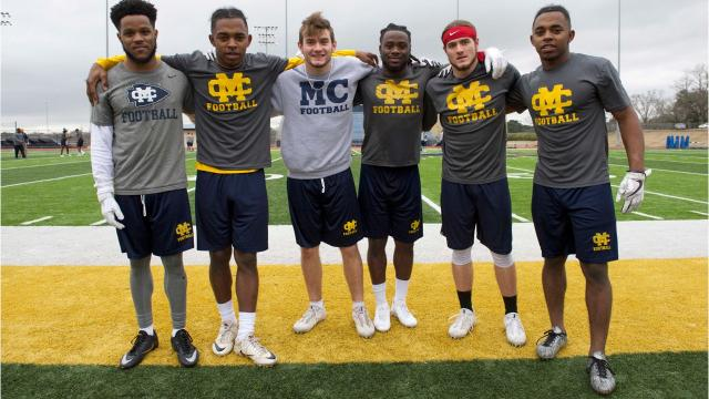 The Mississippi College football team has three sets of twins on their roster this spring.