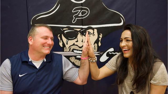 Lacey and Jason Kennedy are a married duo coaching the ladies of Pearl High School basketball.