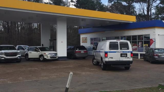 A bullet from a shooting at a Jackson gas station may have entered a daycare center across the street.