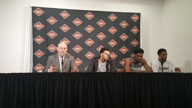 Mississippi State coach Ben Howland and players discuss beating Louisville and moving on to the NIT semifinals at Madison Square Garden in New York City.