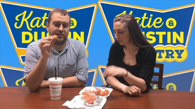 The area's newest fast food restaurant, Cook Out, opened on High Street in Jackson and is already one of the hardest places to get into. But Katie & Dustin did...