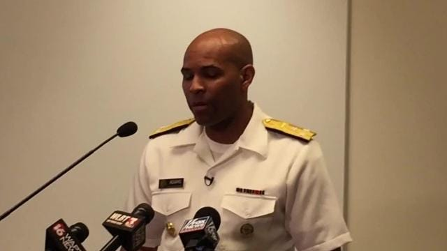 U.S. Surgeon General Jerome Adams discusses the high number of fatal drug overdoses in the nation and his own connection to the problem of addiction.