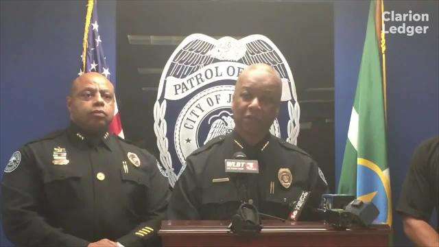 A Jackson Police Department press conference on officer misconduct. Officer Vincent Lampkin was terminated.