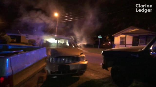 When a JPD Gun Crimes Interdiction Team detective tries to get behind a vehicle to run the tag, it sped off and ended up wrecked in a yard with the driver long gone before police could get to him. The truck he hit had just been sold.