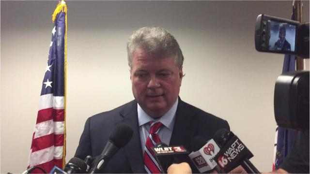 Mississippi Attorney General Jim Hood talks about an investigation into whether state officials — particularly Lt. Gov. Tate Reeves, members of his staff or state senators — acted inappropriately to influence a $2 million road project connecting Reeves' subdivision with the Dogwood Festival Market shopping area.