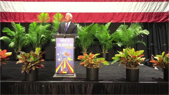 Wicker speaks at the annual gathering of the state chamber of commerce known as Hobnob.