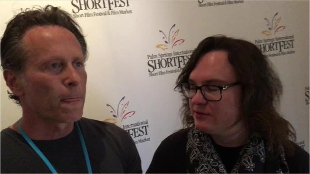 Steven Weber and Clark Duke at Palm Springs ShortFest