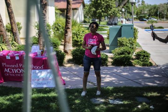 Palm Springs rally in support of Planned Parenthood and ACA