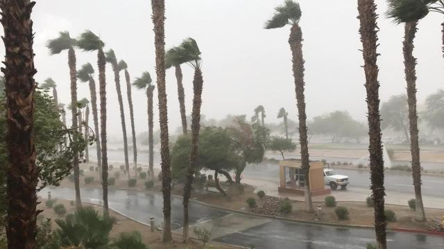 Raw video: Thunderstorm hits Palm Springs
