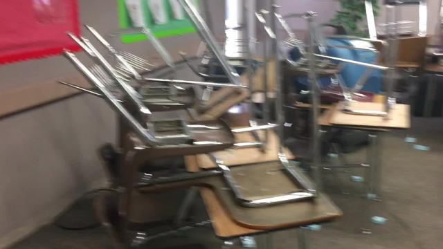 Palm Springs HIgh School was flooded during a Sept. 9 storm. It was the second time it flooded since Aug. 3.